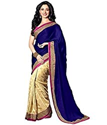 Morpankh enterprise Blue Georgette Saree ( tamana blue )