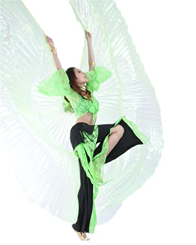 Dreamspell colorful yarn transparent fruit green belly dance isis big wings