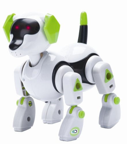 Discovery Kids Build Your Own Robo Pup Model Robot Toy Kit: Sound and Touch Activated Walking, Barking, Moving Light-Up Robotic Puppy Dog