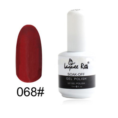 Nails Care Nail Polish / Soak Off Uv Gel Polish Lamp Glitters 15Ml / Dark Red Gel Polish