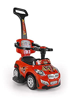 Milly Mally 3-in-1 Happy Ride On Car (Red) by Milly Mally