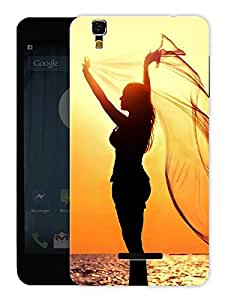 "Humor Gang Freedom Girl Printed Designer Mobile Back Cover For ""Yu Yureka Plus"" (3D, Matte, Premium Quality Snap On Case)"