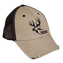 PRIMOS HUNTING OUTDOOR NATURE GREY BLK HAT CAP RIPPED