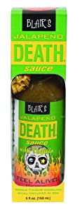 Blairs Jalapeno Death Sauce With Tequila Skull Key Chain - 5 Oz from Blair's