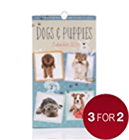 Dogs & Puppies Slim 2014 Calendar