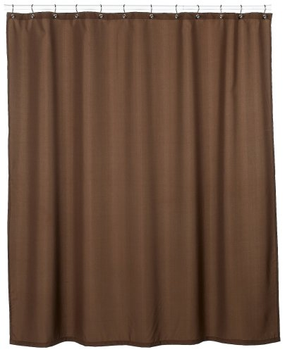 Park B.Smith Dorset Solid 72-Inch-By-72-Inch Shower Curtain, Coffee Bean