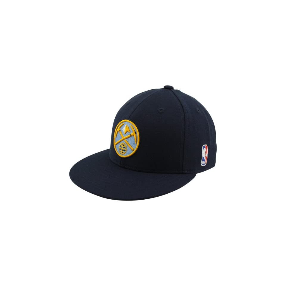 f1e16be762b NBA adidas Denver Nuggets Navy Blue Flat Bill Fitted Hat (7 1 8 on ...