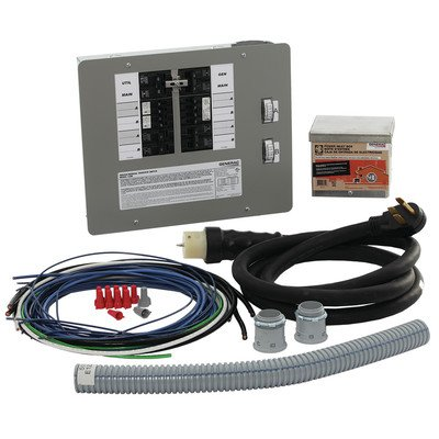 Generac 6296 50-Amp 10-16 Circuit Manual Transfer Switch Kit for Portable Generators (Large Well Pump Cover compare prices)