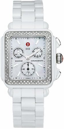 Michele Ceramic Diamond Deco Ladies Watch MWW06F000002