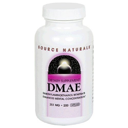 Source Naturals Dmae, 351Mg, 200 Capsules (Pack Of 2)