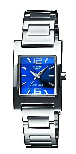 CASIO Collection LTP-1283D-2A2EF - Reloj de mujer de cuarzo, correa de acero inoxidable, esfera Azul