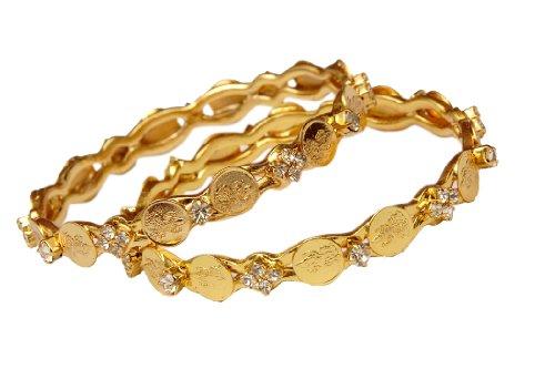 Jewbang Laxmi White stone bangles for women n college girls-JB021AEXTRAKHI