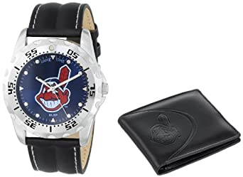 Game Time Unisex MLB-WWS-CLE Wallet and Cleveland Indians MLB Watch Set by Game Time