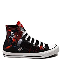 Converse All Star Harley Quinn fashion Sneaker athletic walking shoes unisex (11.5 men - 12.5 women)