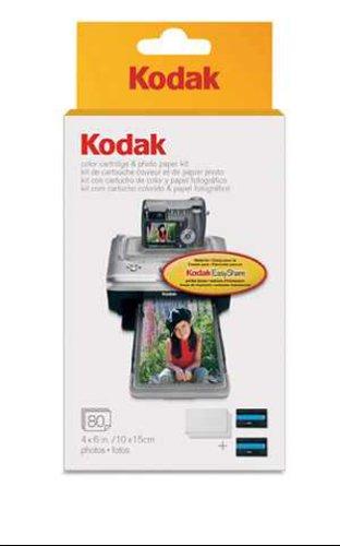 Shopping Kodak PH 80 EasyShare Printer Dock Color Cartridge Amp Photo Paper Refill Kit