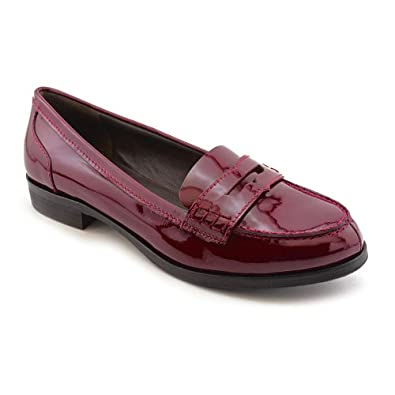 pour la victoire siena womens burgundy moc patent leather