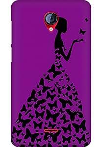 AMEZ designer printed 3d premium high quality back case cover for Micromax Unite 2 A106 (dark pink girl princess)