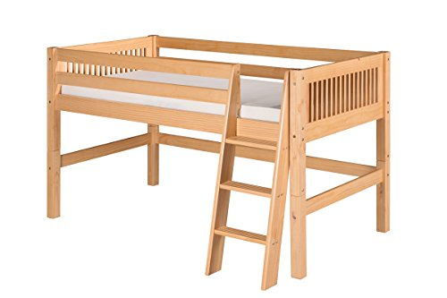 Low Loft Bed With Storage 2579 front
