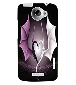 ColourCraft Beautiful Dragon Heart Design Back Case Cover for HTC ONE X