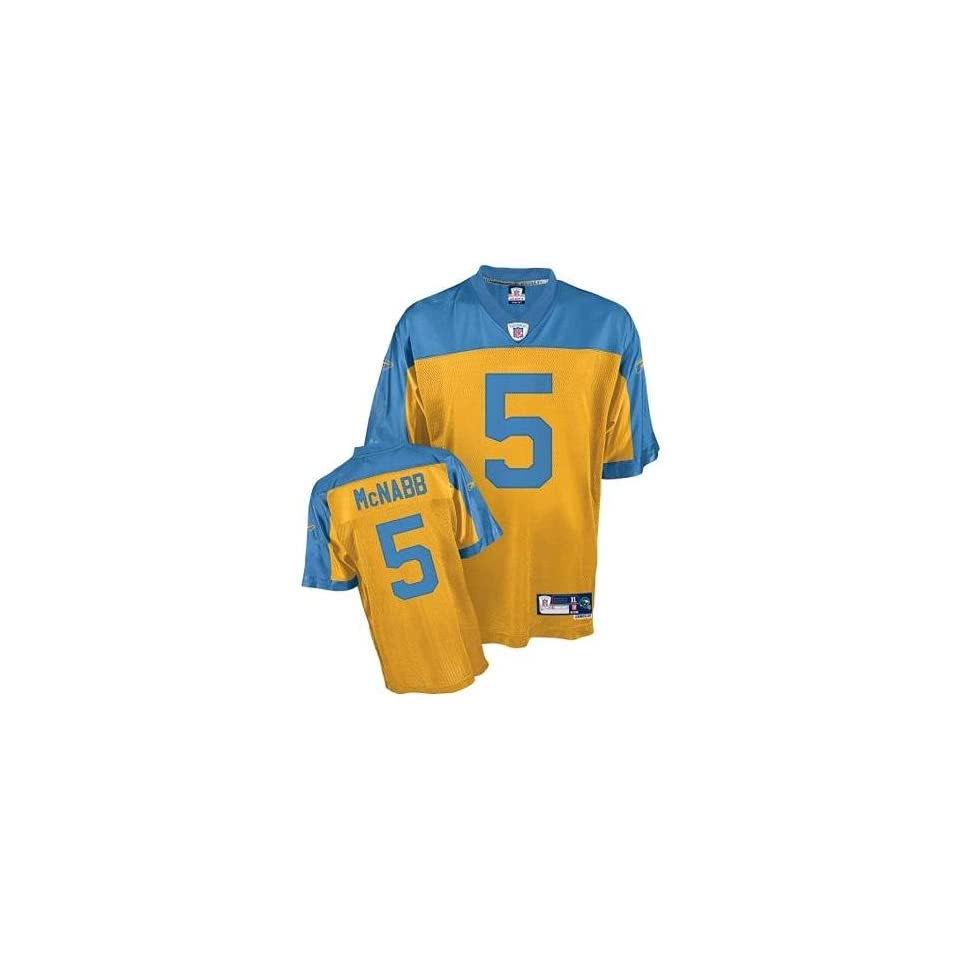 Philadelphia Eagles Donovan McNabb  5 Gold 75th Anniversary Authentic Jersey a00f483b6