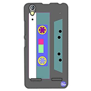Designer Lenovo A6000 Plus Case Cover Nutcase -Retro Casette Grey & Pale Blue