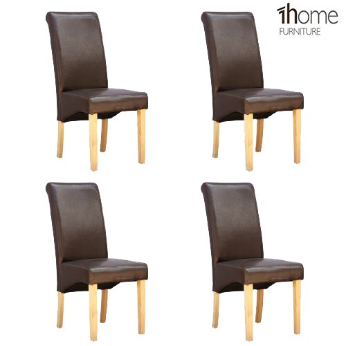 4-x-1home-leather-brown-dining-chair-w-oak-finish-wood-legs-roll-top-high-back