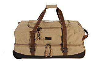 Frendo Retro Roller Bag Wheeled Holdall 65 Litres Beige beige Size:U from Frendo
