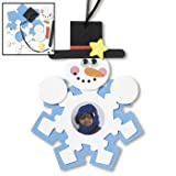 Snowman Photo Frame Ornament Craft Kit - Crafts for Kids & Photo Crafts