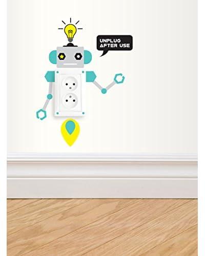 Ambiance Live Vinilo Adhesivo De Enchufe Eléctrico Robots Para Niños