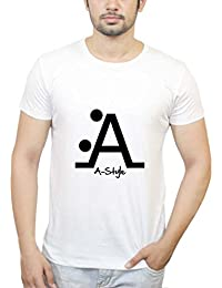 PosterGuy Letter A Style|Funny, Crazy, Unique, Creative, Smart, Text White T-Shirt