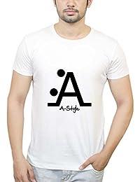PosterGuy Letter A Style Funny, Crazy, Unique, Creative, Smart, Text White T-Shirt