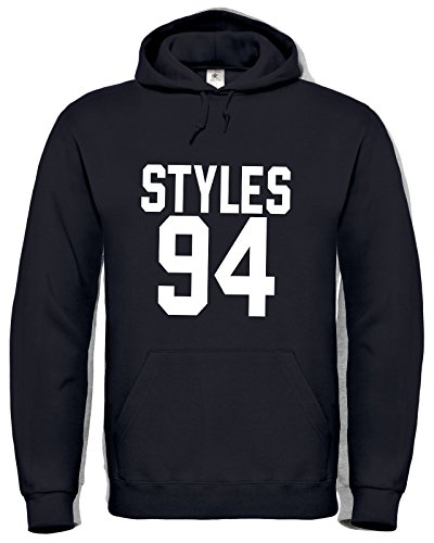 Harry Styles 94 / Harry Styles Tattoo / One Direction / Hoodie / Felpa Con Cappuccio / HD6 (M, Nero)