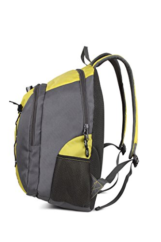 """Miggo BAY VILLAGE / Sport Backpack ideal for active youngster / Fits up to 16"""" Laptops - Polyester Green/Grey"""
