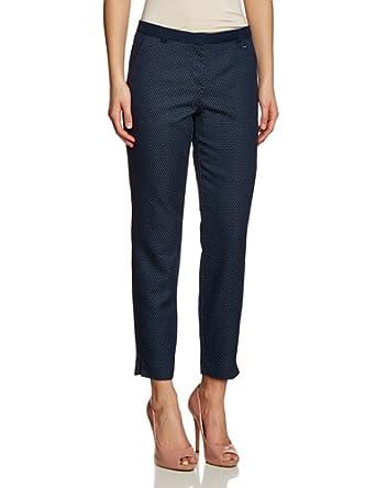 TOM TAILOR Damen Straight Leg Jeans Structured Pant/402, Gr. W34/L33 (Herstellergröße: 34), Blau (real navi blue)