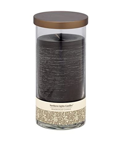 Northern Lights 24-Oz. Glass Pillar Candle, Black Currant & Clove
