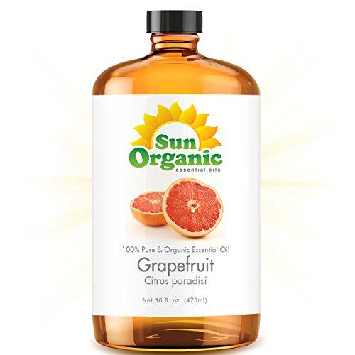 Grapefruit - Ultra 16 Ounce - Organic, 100% Pure Essential Oil (Best 16 Fl Oz / 472Ml) - Sun Organic