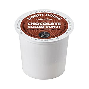 Donut House Collection Coffee, Chocolate Glazed Donut, K-Cup Portion Pack for Keurig K-Cup Brewers