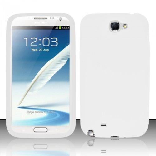 For Samsung Galaxy Note 2 N7100 - PREMIUM Silicon Skin Case - White (Note 2 Case White compare prices)
