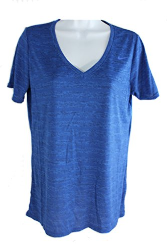 Nike Womens Legend Veneer Short Sleeve Shirt (Deep Royal Blue) Large