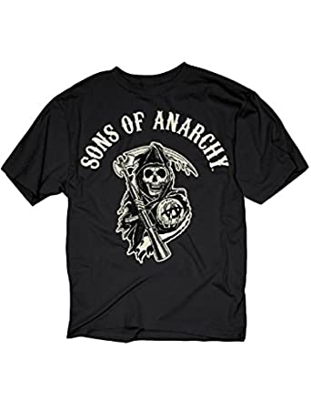Sons of Anarchy SOA Logo Homme Noir T-Shirt   S