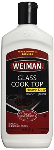 Weiman Glass Cook Top Heavy Duty Cleaner & Polish for induction cooktops