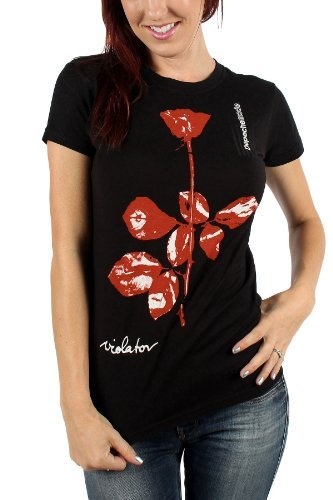 Depeche Mode - Da donna Violator T-Shirt in Nero, Medium, Nero