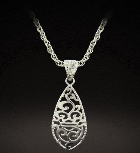 Harley-Davidson® Stamper® Women's Sterling Silver Scroll Desgin Necklace. PN7485