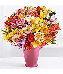 100 Blooms of Get Well Wishes (with FREE glass vase) - Flowers