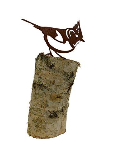 Vogel haubenmeise rostdeko for Gartendeko metall vogel