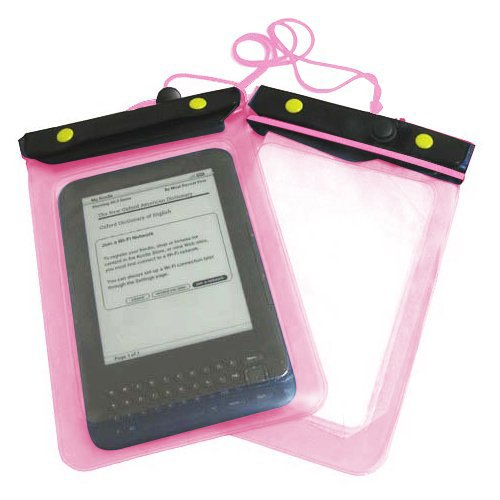 Toogoo(R) Pink Amazon Kindle Holiday Waterproof Case Cover Protective Bag Pouch --- Size: 18*12Cm --- Compatible With (Amazon Kindle Keyboard / International / Iliad / Bookeen / Cybook / Cooler / Sony Reader / Blackberry / Playbook / Ebook / E-Reader) front-177856
