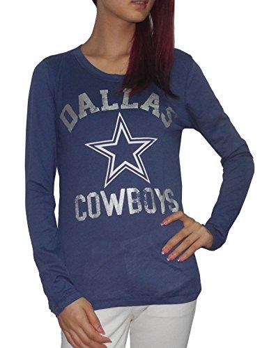 Pink Victoria'S Secret Nfl Dallas Cowboys Womens Crew-Neck Slim Fit Shirt S Blue