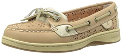 Sperry Top-Sider Women's Angelfish Perforated Boat Shoe,Linen,7 M US