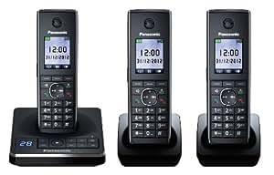 Panasonic KX-TG8563GB Schnurlostelefon mit Anrufbeantworter (4,6 cm (1,8 Zoll) Display) schwarz
