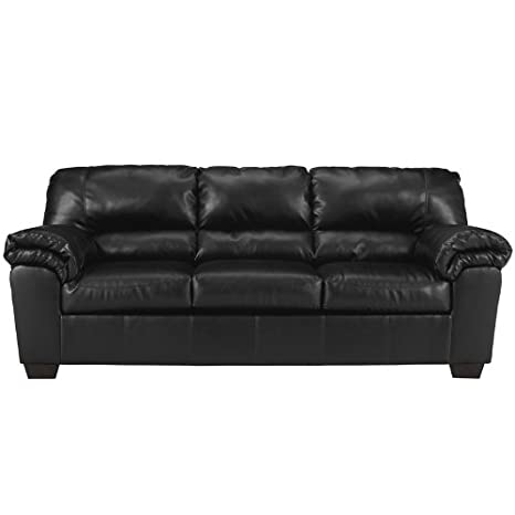 Flash Furniture Commando Sofa, Black Leather